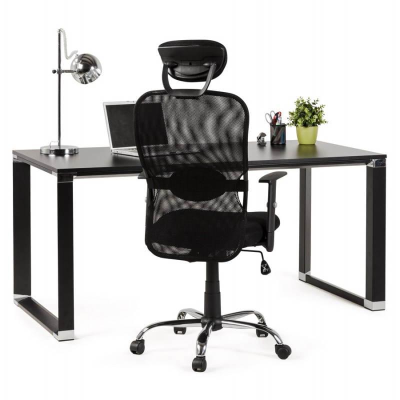 Bureau droit design BOUNY en bois (noir) - image 26031