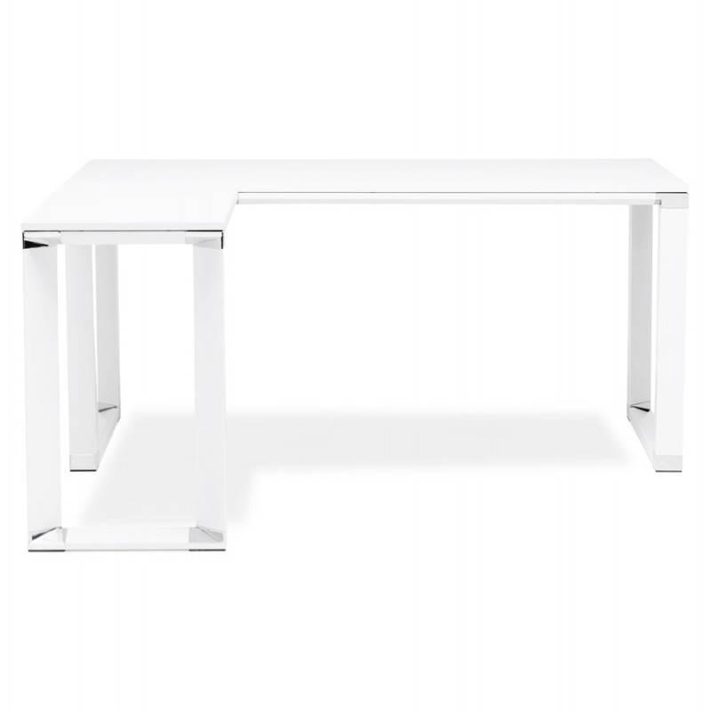 Bureau d'angle design CORPORATE en bois (blanc) - image 26057