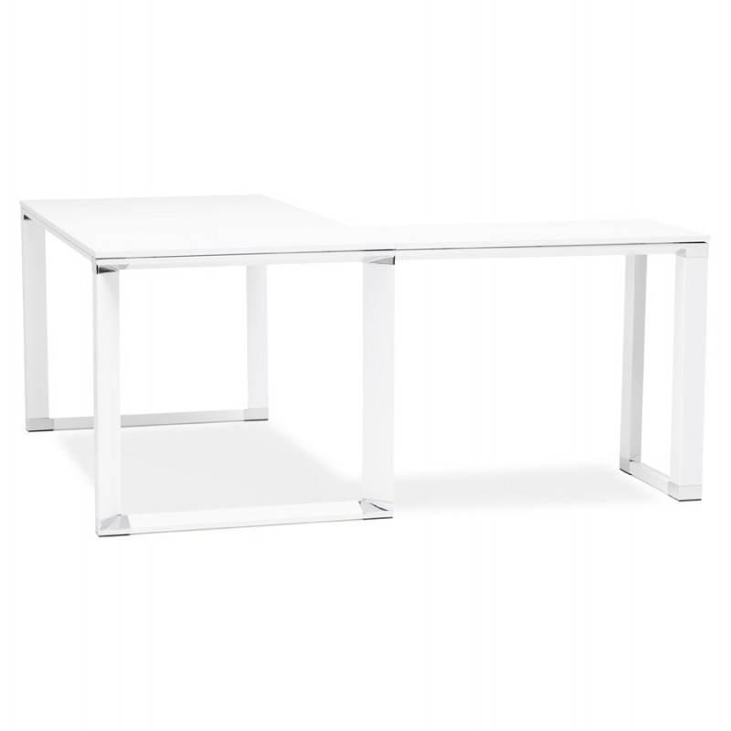 Bureau d'angle design CORPORATE en bois (blanc) - image 26063