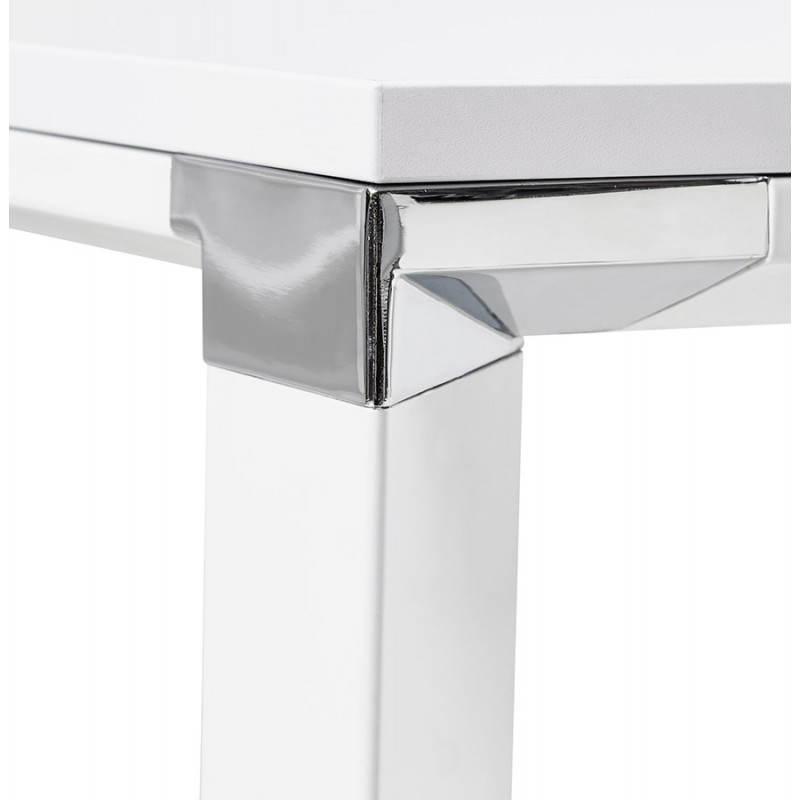 Bureau d'angle design CORPORATE en bois (blanc) - image 26073