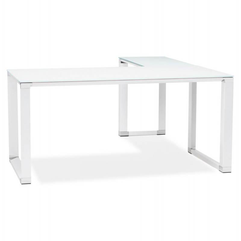 Bureau d'angle design MASTER en verre trempé (blanc) - image 26087