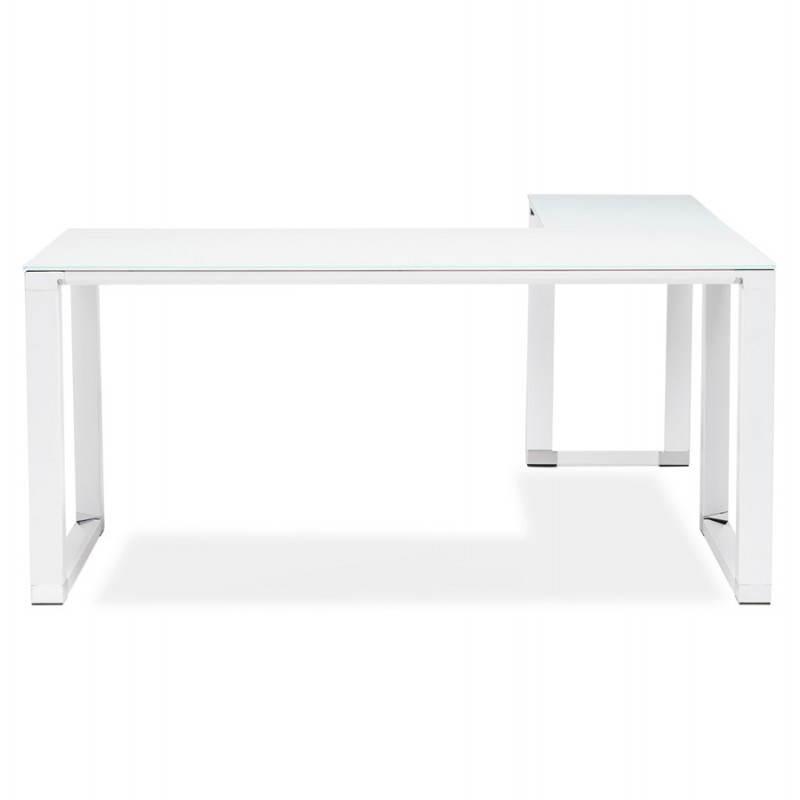 Bureau d'angle design MASTER en verre trempé (blanc) - image 26108