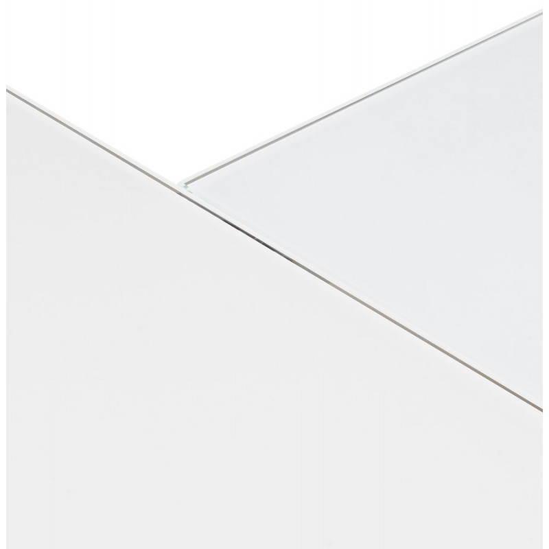 Bureau d'angle design MASTER en verre trempé (blanc) - image 26116