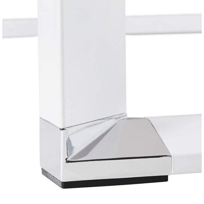 Bureau d'angle design MASTER en verre trempé (blanc) - image 26120