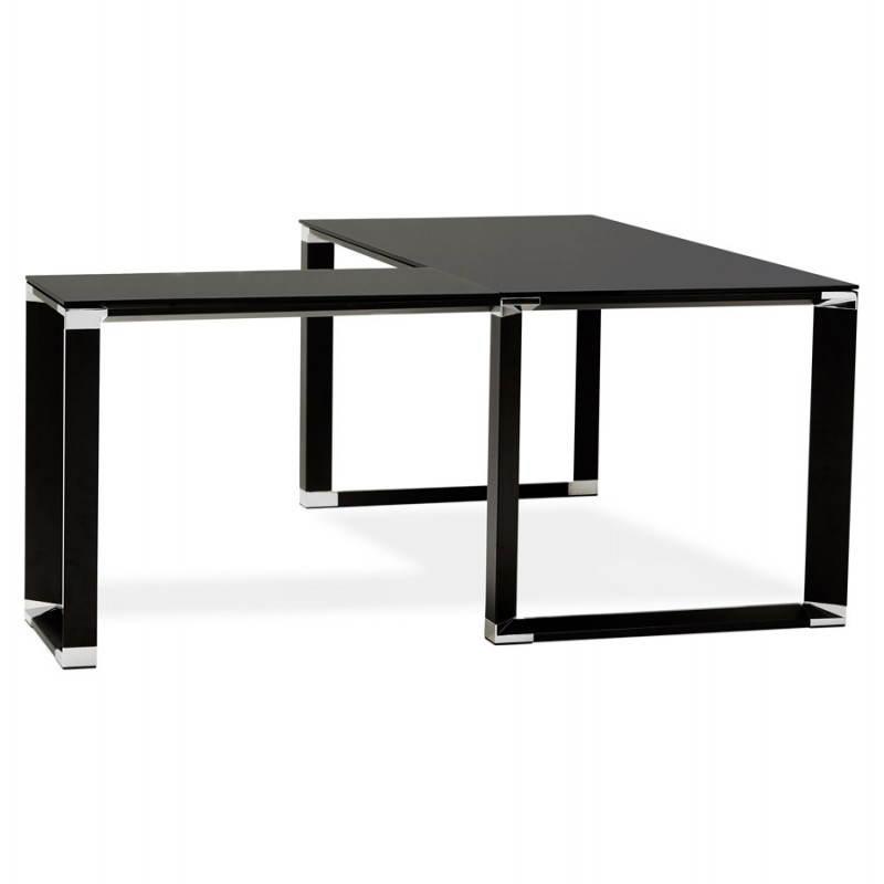 Bureau d'angle design MASTER en verre trempé (noir) - image 26253