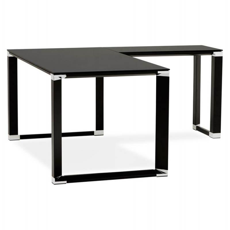 Bureau d'angle design MASTER en verre trempé (noir) - image 26259