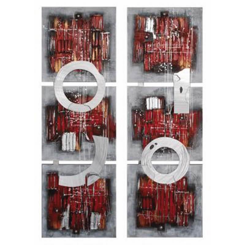 Lot de 2 tableaux peintures abstraites contemporaines ANNEAUX  - image 26462