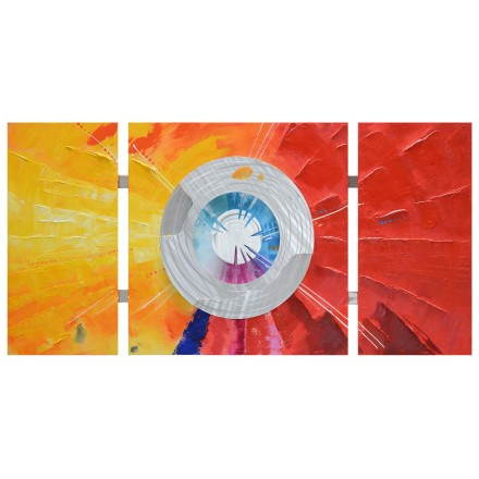 Table contemporary painting of abstract style wheel