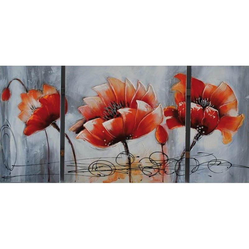 Tableau peinture florale LOTUS  - image 26480