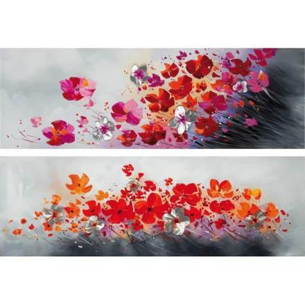 2 tablas de pintura flores flora
