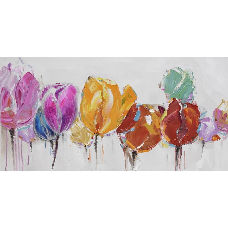 Tableau peinture florale TULIPE  - image 26485