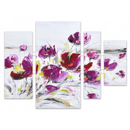 Paintings painting floral violet