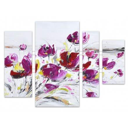 Tableaux peinture florale VIOLETTE