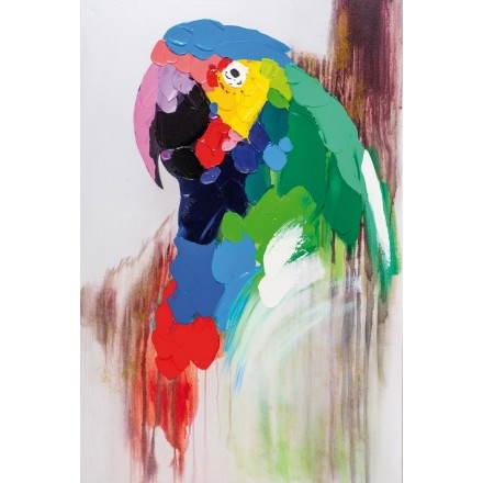 Tabelle Malerei figurative zeitgenössische Papagei