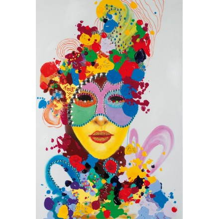 Tabelle Malerei figurativer zeitgenössischer Karneval