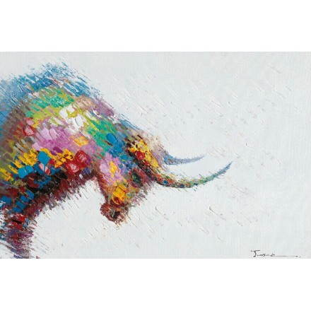 Cuadro pintura figurativa contemporánea Toro