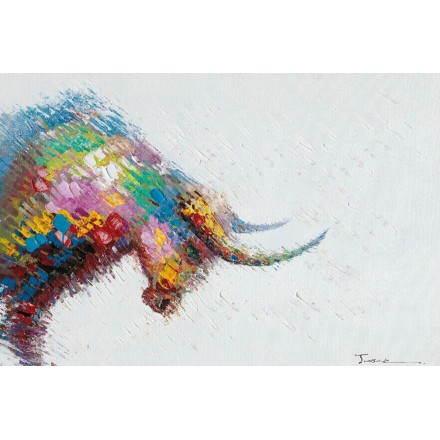 Tabella di pittura figurativa contemporanea Bull