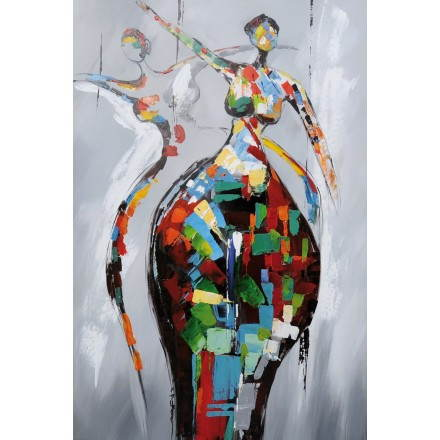 Table painting figurative contemporary RUMBA