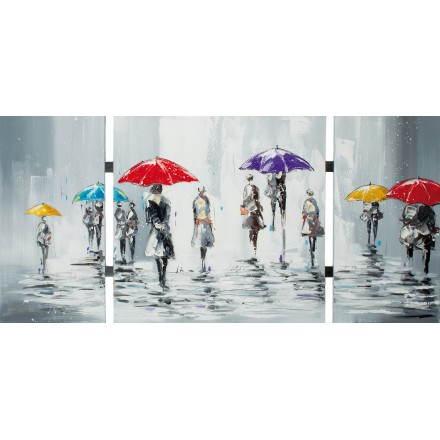 Paraguas contemporáneo figurativo de la pintura tabla