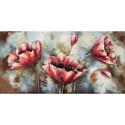 Tabelle Malerei Unterstützung Metall poppy
