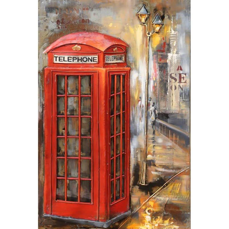 Tableau peinture support métal TELEPHONE  - image 26518