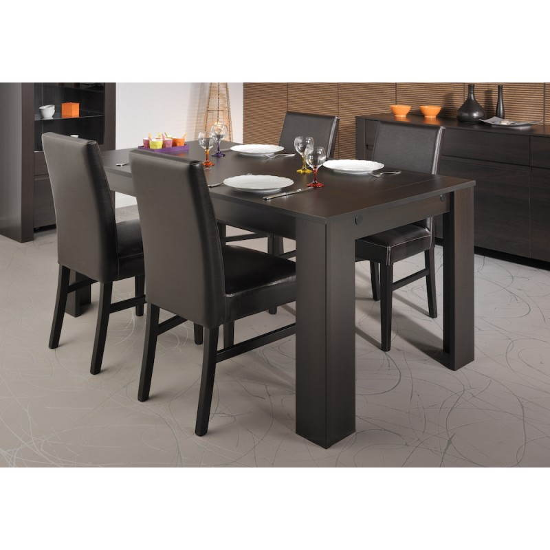 Table de salle manger design europe weng for Salle a manger wenge massif