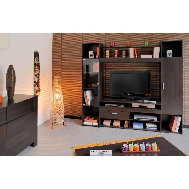 Meuble TV Hifi Vidéo Design EUROPE (wengé)