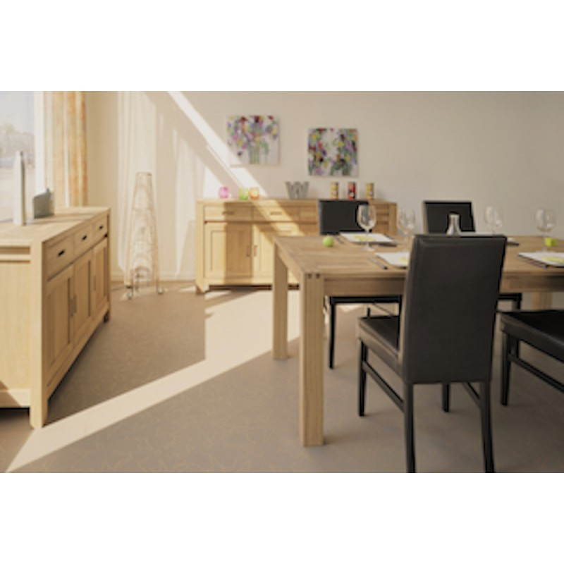 Table salle manger design halles beige finition huil for Design salle a manger