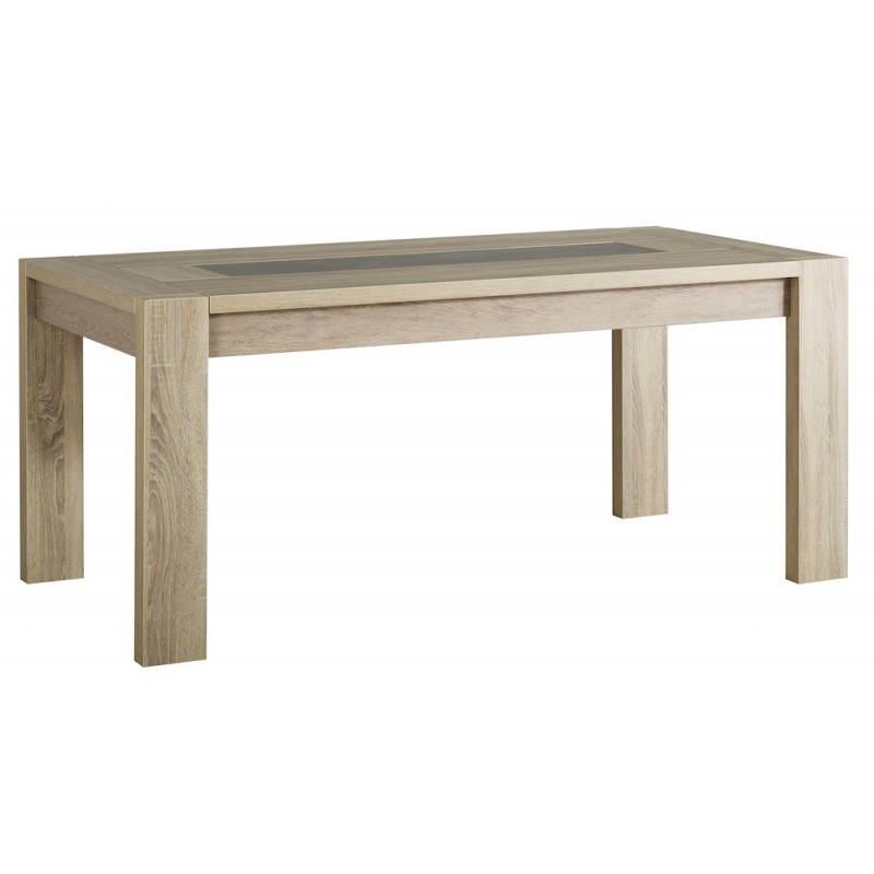 Table manger extensible design auteuil ch ne brut b ton for Table a manger chene