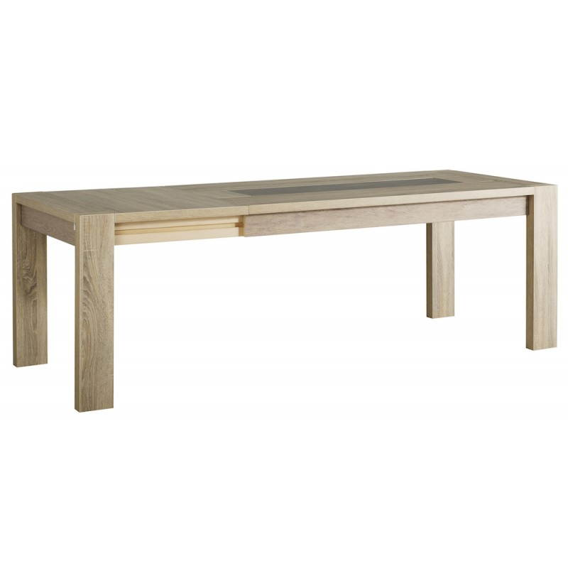 Table manger extensible design auteuil ch ne brut b ton for Table a manger extensible design