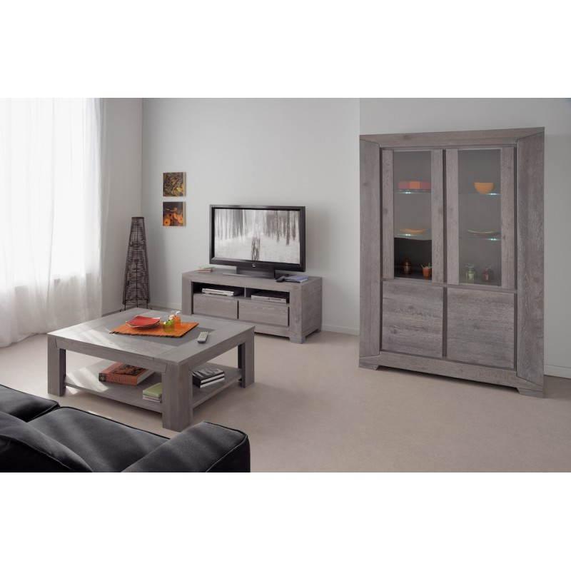 Meuble TV design BERCY décor chêne (gris) -> Meuble Tv Design Deco