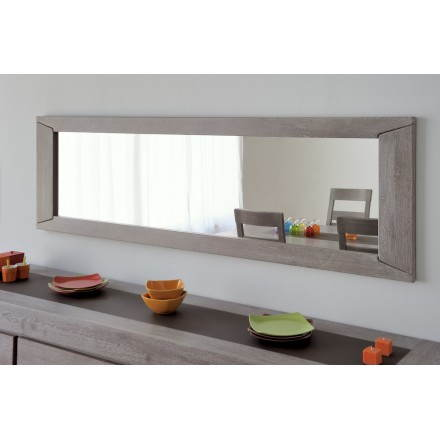 Rectangular wall mirror design BERCY decor (grey) oak