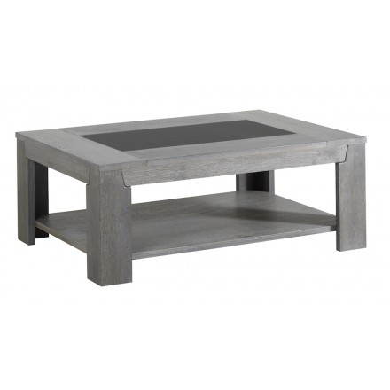 Rectangular coffee table design BERCY decor (grey) oak