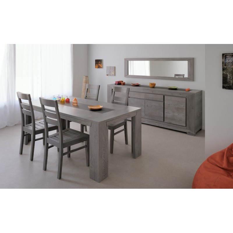 Rechteckige design tisch 2 l ngliche bercy dekor grau eiche for Tisch design eiche