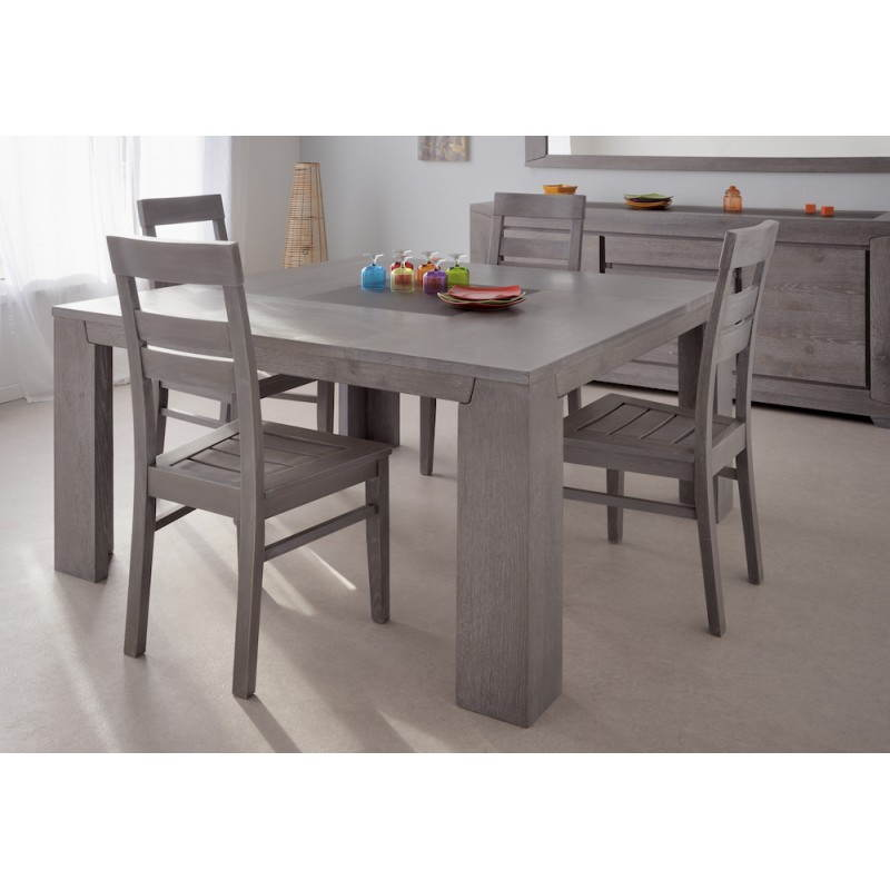 table design carr e bercy d cor ch ne gris. Black Bedroom Furniture Sets. Home Design Ideas
