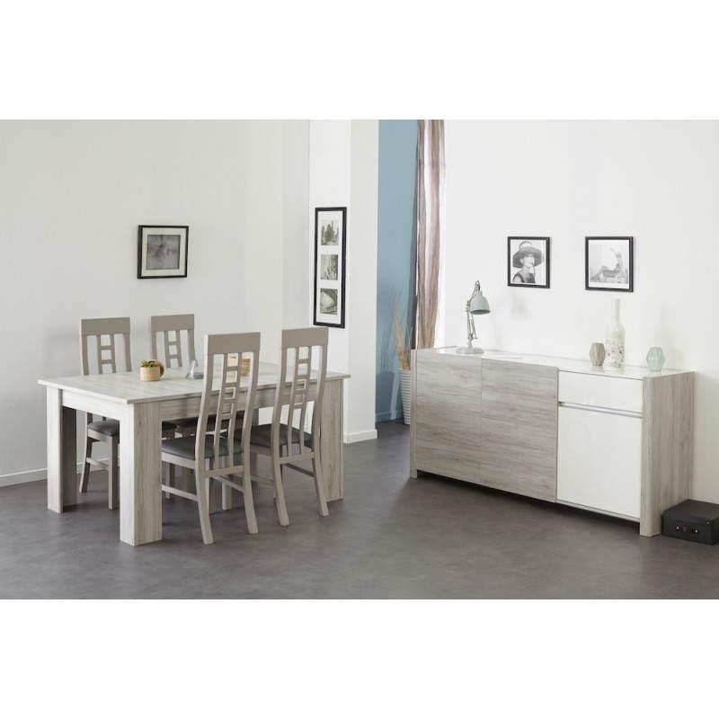 buffet enfilade 3 portes design chaillot d cor ch ne gris. Black Bedroom Furniture Sets. Home Design Ideas