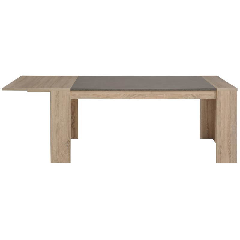 Table manger avec 2 allonges design firmin d cor ch ne - Table en chene brut ...
