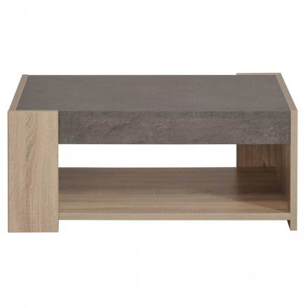 Low design TV FIRMIN decor raw oak (beige, dark concrete)