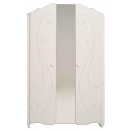 Girl 2 cabinet doors romantic style Highness (white)