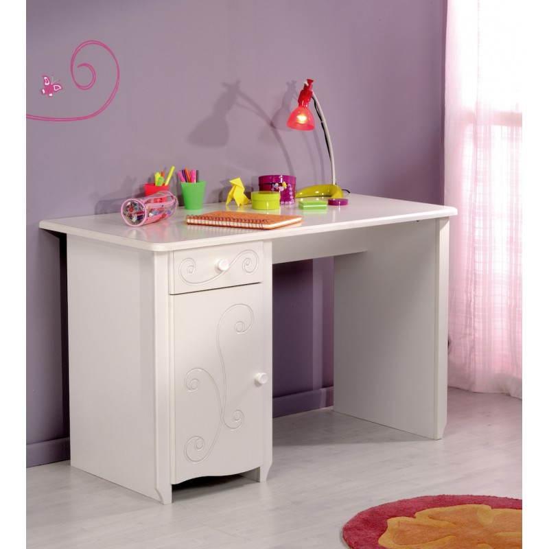 bureau fille style romantique altesse blanc