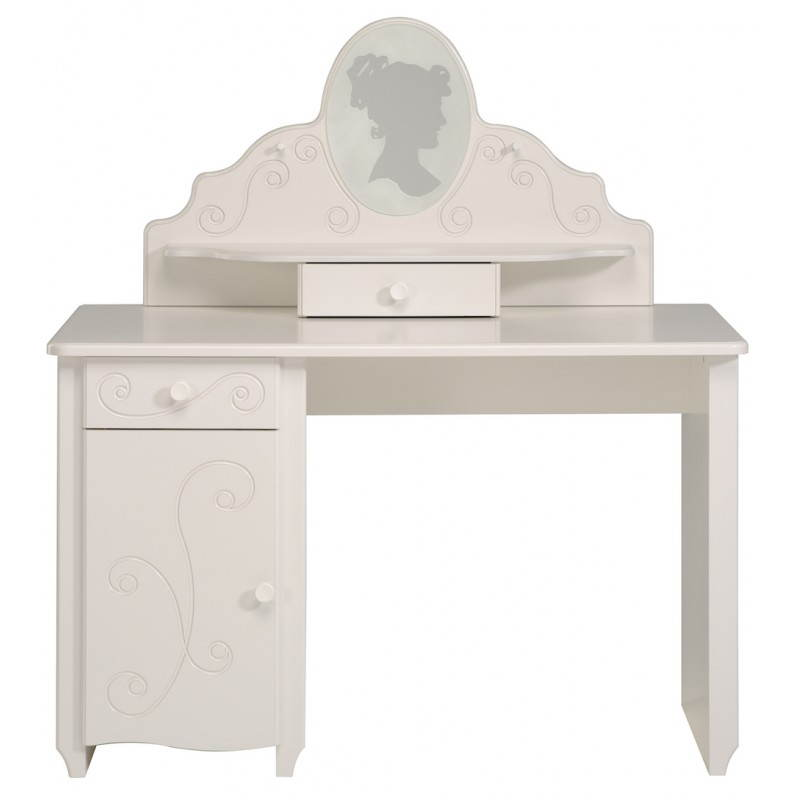 bureau fille style romantique altesse blanc. Black Bedroom Furniture Sets. Home Design Ideas