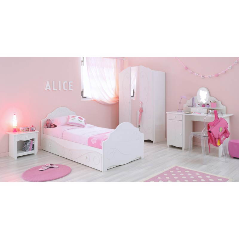 bureau fille style romantique altesse blanc. Black Bedroom Furniture Sets. Home Design Ideas