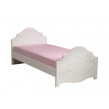 bed 90 x 200 cm romantic style highness white girl - Lit Fille