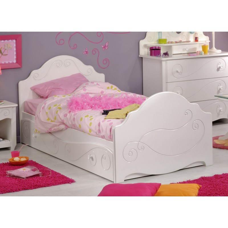 bed 90 x 200 cm romantic style highness (white) girl, Hause deko