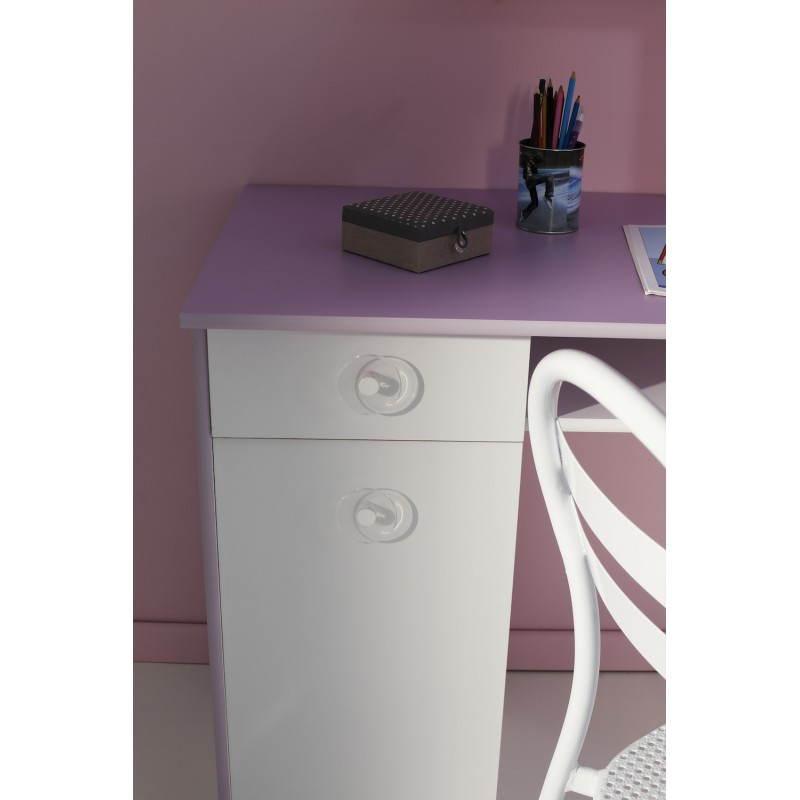 Fille Style Romantique Flores (Blanc, Lilas)
