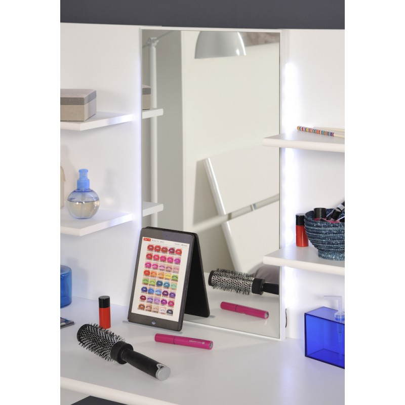color ámbar muebles tocador 1 espejo (blanco)