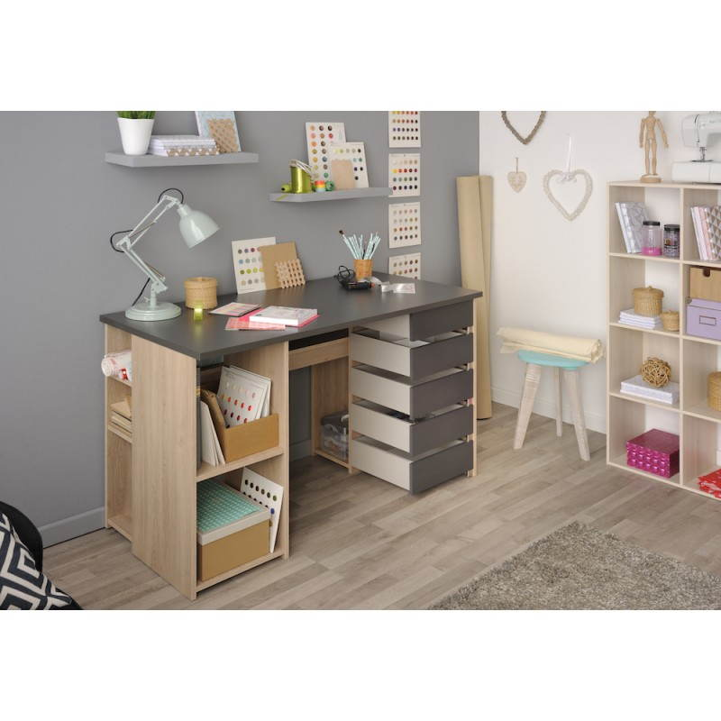 arte de oficina benito roble gris sombra. Black Bedroom Furniture Sets. Home Design Ideas