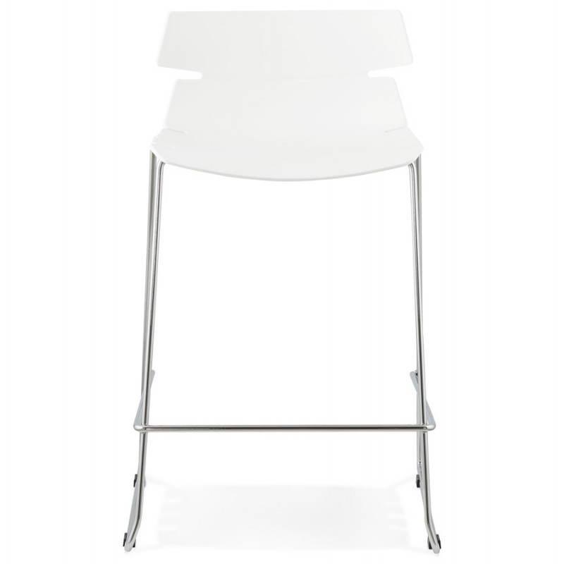 Tabouret de bar mi-hauteur design BRIO en polypropylène (blanc) - image 27581