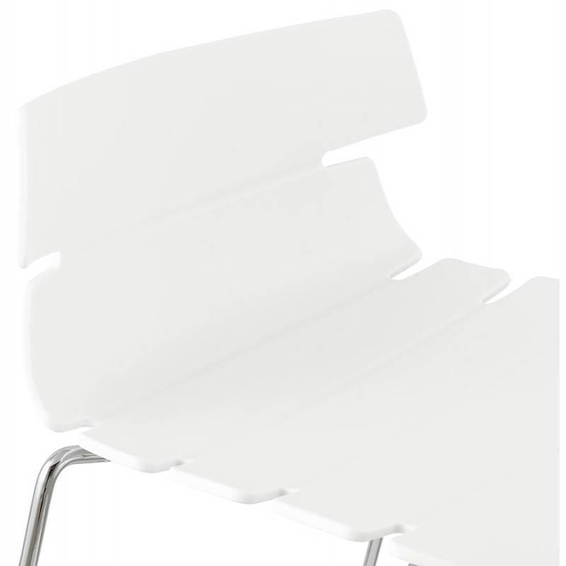 Tabouret de bar mi-hauteur design BRIO en polypropylène (blanc) - image 27585