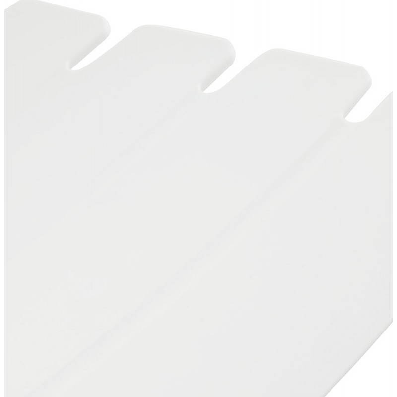 Tabouret de bar mi-hauteur design BRIO en polypropylène (blanc) - image 27587